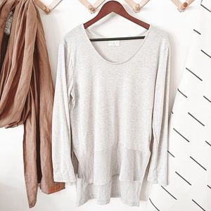 Thyme & Honey Neutral Toned Split Hem Sweater